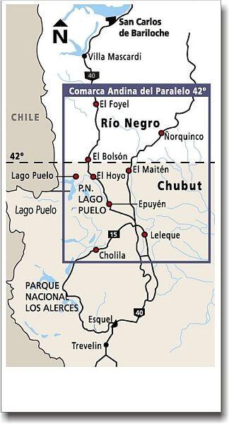 Comarca andina del Paralelo 42, recorrido